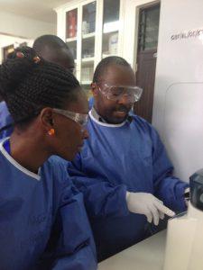 Wilber conducts TB molecular diagnostics in Moshi