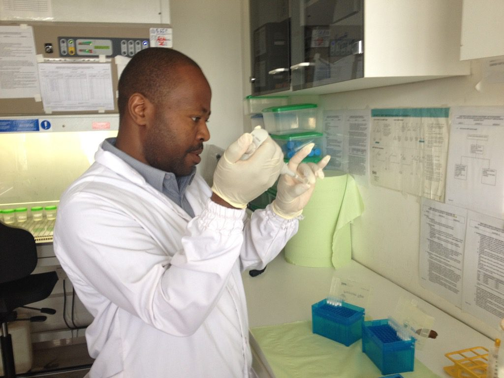 Wilber demonstrates accurate pipetting