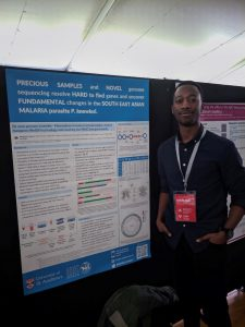 Damilola Oresegun pictured with his poster at the MAM Conference
