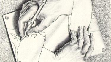 'Drawing Hands' by M. C. Escher (1948)